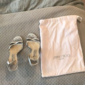 Silver Jimmy Choo sandals